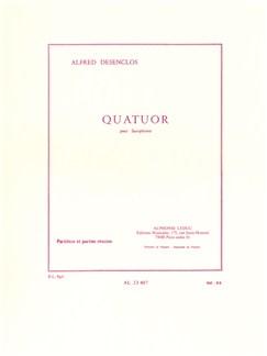Alfred Desenclos: Saxophone Quartet (Score/Parts) Books | Saxophone (Quartet)