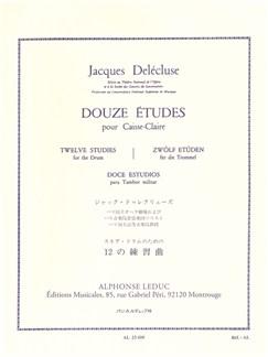 Jacques Delécluse: 12 Etudes For Snare Drum Libro | Percusión, Batería