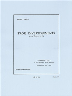 Henri Tomasi: Three Divertissements For Four Clarinets (Score/Parts) Books | Clarinet (Quartet)