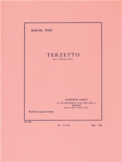 Marcel Poot: Trio for 3 Clarinets (Score/Parts) Books | Clarinet (Trio)