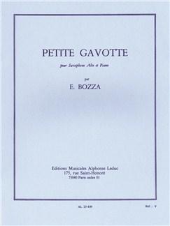Eugène Bozza: Petite Gavotte (Alto Saxophone/Piano) Bog | Altsaxofon, Klaverakkompagnement