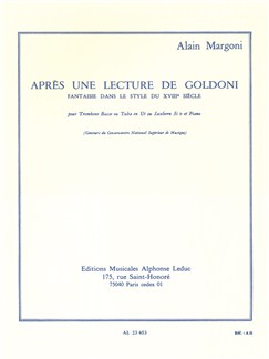 Alain Margoni: Après Une Lecture De Goldoni (Bass Trombone or Tuba/Piano) Books | Bass Trombone or Tuba, Piano Accompaniment