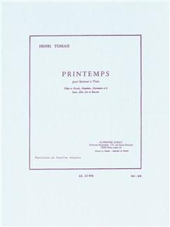 Henri Tomassi: Printemps (Wind Sextet) (Score/Parts) Books | Wind Quintet, Alto Saxophone