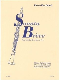 Pierre-Max Dubois: Sonata Brève For Clarinet Solo Books | Clarinet