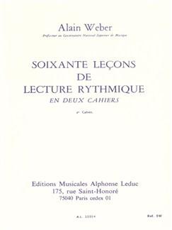 Alain Weber: 60 Leçons de Lecture rythmique Vol.2 (Livre) Livre |