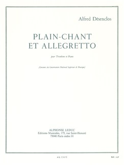 Alfred Désenclos: Plain-Chant Et Allegretto Books | Trombone