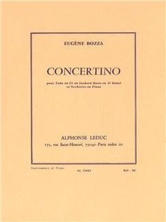 Eugène Bozza: Concertino (Tuba/Piano) Books | Tuba, Piano Accompaniment