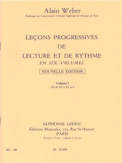 Alain Weber: Leçons Progressives De Lecture Et De Rythme - Volume 1 Livre |
