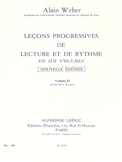 Weber A: Lecons Progr.Lecture Et Rythme Vol 2:cles Sol Et Fa S/Acct Books | Theory Books and Papers