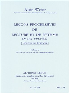 Alain Weber: Progressive Lessons Of Reading And Rhythm - Volume 5 Books | All Instruments