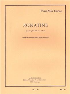 Pierre-Max Dubois: Sonatine For Alto Saxophone And Piano Libro | Saxofón Alto, Acompañamiento de Piano