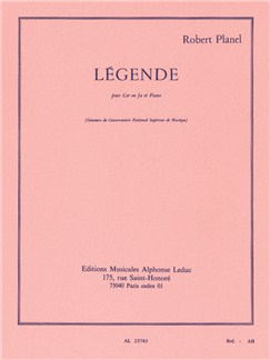 Robert Planel: Légende (Horn/Piano) Books | French Horn, Piano Accompaniment