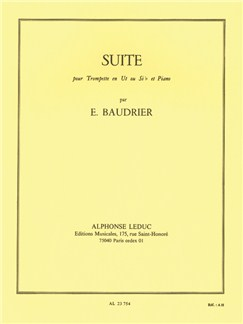 Émile Baudrier: Suite For Trumpet And Piano Books | Trumpet, Piano Accompaniment