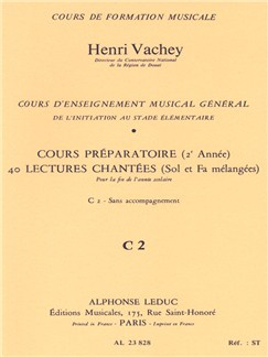 Henri Vachey: 40 Exercises With Treble And Bass Clefs Mixed Books | All Instruments