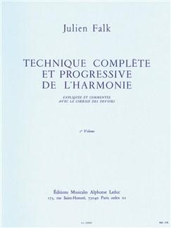 Julien Falk: Complete and Progressive Technique of Harmony (Volume 1) Books | All Instruments