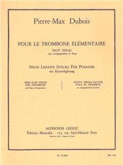 Pierre-Max Dubois: Pour le Trombone élémentaire (Trombone & Piano) Livre | Trombone