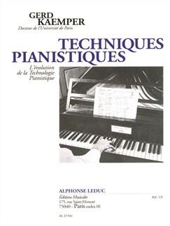 Gerd Kaemper: Techniques Pianistiques Libro | Piano