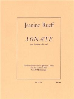 Jeanine Rueff: Sonata For Solo Alto Saxophone Books | Alto Saxophone