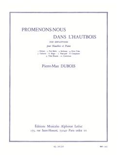 Pierre-Max Dubois: Promenons-nous Dans l'Hautbois Books | Oboe, Piano Accompaniment