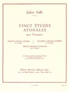Julien Falk: 20 Etudes Atonales (Trumpet solo) Libro | Corneta, Trompeta, Tombón, Bombardino