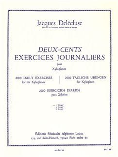 Jacques Delécluse: Deux-Cents Exercices Journaliers - Vol. 1 (Xylophone) Livre | Percussion