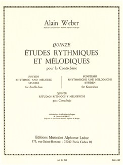 Alain Weber: 15 Rhythmic And Melodic Studies (Double Bass) Books | Double Bass