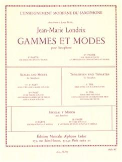 Jean-Marie Londeix: Gammes Et Môdes Vol.1 (Saxophone) Buch | Saxophon