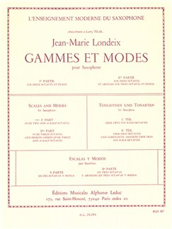 Jean-Marie Londeix: Gammes Et Môdes Vol.1 (Saxophone) Books | Saxophone