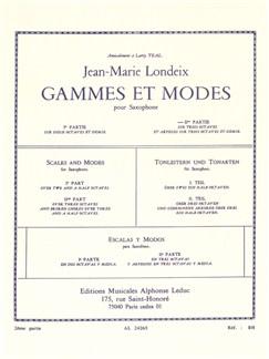 Jean-Marie Londeix: Gammes Et Môdes Vol.2 (Saxophone) Buch | Saxophon