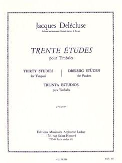 Jacques Delécluse: Trente Études Pour Timbales Books | Percussion