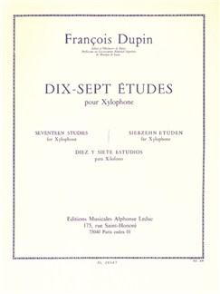 François Dupin: Dix-Sept Études (Xylophone) Books | Xylophone, Percussion