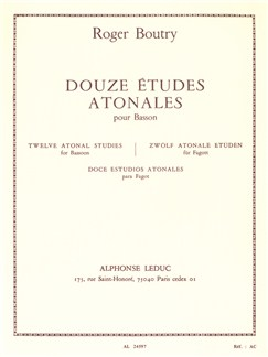 Roger Boutry: 12 Etudes Atonales (Bassoon) Books | Bassoon