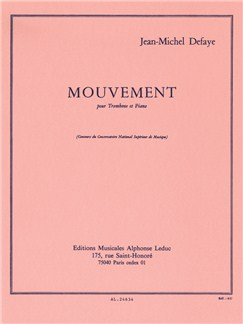 Jean-Michel Defaye: Mouvement For Trombone And Piano Books | Trombone, Piano Accompaniment