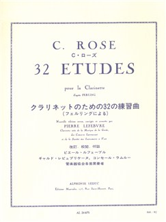 Cyrille Rose: 32 Etudes D'Apres Ferling (Clarinet in B Flat) (Lefebvre) Books | Clarinet, Study Guide