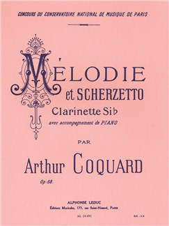 Arthur Coquard: Mélodie Et Scherzetto Op.68 (Clarinet) Books | Clarinet, Piano Accompaniment