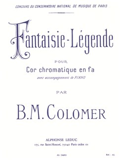 Blai Maria Colomer: Fantaisie Légende (Horn/Piano) Books | French Horn, Piano Accompaniment