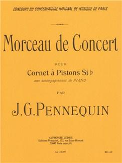 J. G. Pennequin: Morceau de Concert (Cornet/Piano) Books | Cornet, Trumpet, Piano Accompaniment