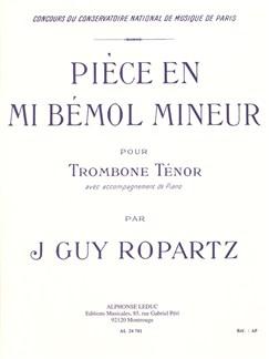 Joseph-Guy Ropartz: Pièce In E Flat Minor (Trombone/Piano) Books | Trombone, Piano Accompaniment