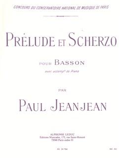 Paul Jeanjean: Prélude Et Scherzo (Bassoon/Piano) Books | Bassoon