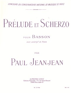Paul Jeanjean: Prélude Et Scherzo (Bassoon/Piano) Bog | Fagot, Klaverakkompagnement