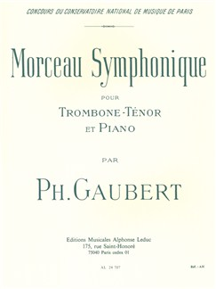 Philippe Gaubert: Morceau Symphonique For Tenor Trombone And Piano Books | Trombone, Piano Accompaniment