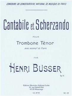 Henri Büsser: Cantabile Et Scherzando Op.51 (Trombone/Piano) Books | Trombone, Piano Accompaniment