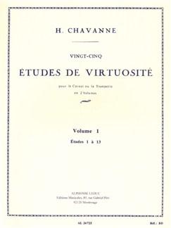 Henri Chavanne: 25 Études De Virtuosité Vol.1 (Cornet/Trumpet) Books | Trumpet, Cornet