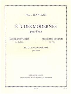 Paul Jeanjean: Études Modernes For Flute Libro | Flauta
