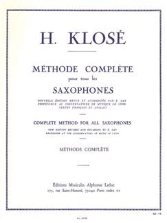Hyacinthe Klosé - Méthode complète pour tous les saxophones Livre | Saxophone