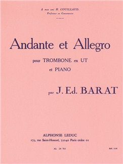 Joseph Edouard Barat: Andante Et Allegro (Trombone/Piano) Books | Trombone, Piano Accompaniment