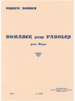 Joseph Bonnet: Romance Sans Paroles Op.7 No.8 Books | Organ