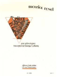 Maurice Ravel: Pièce En Forme De Habanera (Violin/Piano) (Catherine) Books | Violin, Piano Accompaniment