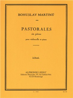 Bohuslav Martinů: Six Pastorales H190 (Cello/Piano) Books | Cello, Piano Accompaniment