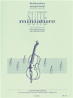 Bohuslav Martinü: Miniature Study (Cello And Piano) Books | Cello, Piano Accompaniment